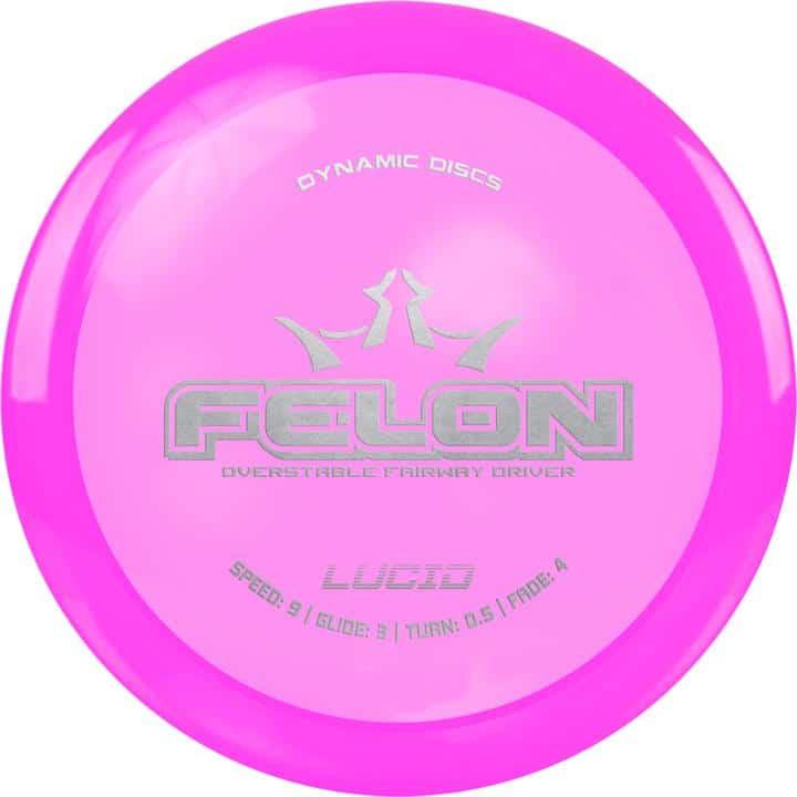 diski golfa disks Dynamic Discs Lucid Line Felon pink
