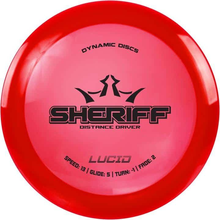 Disku golfa disks Dynamic Discs Lucid Line Sheriff red