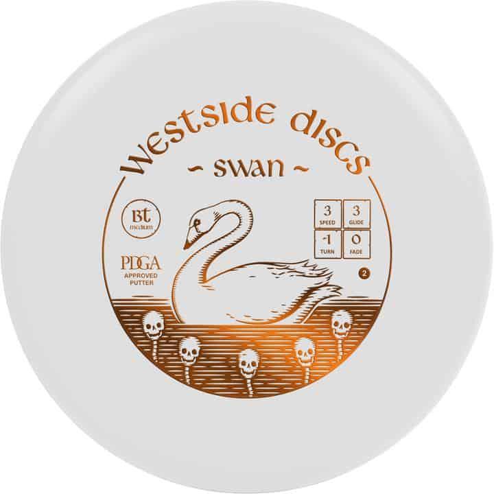 Disku golfa disks Westside Discs BT Line Medium Swan WHITE