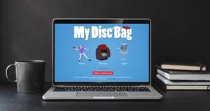 Disku golfa raksts par My disc bag