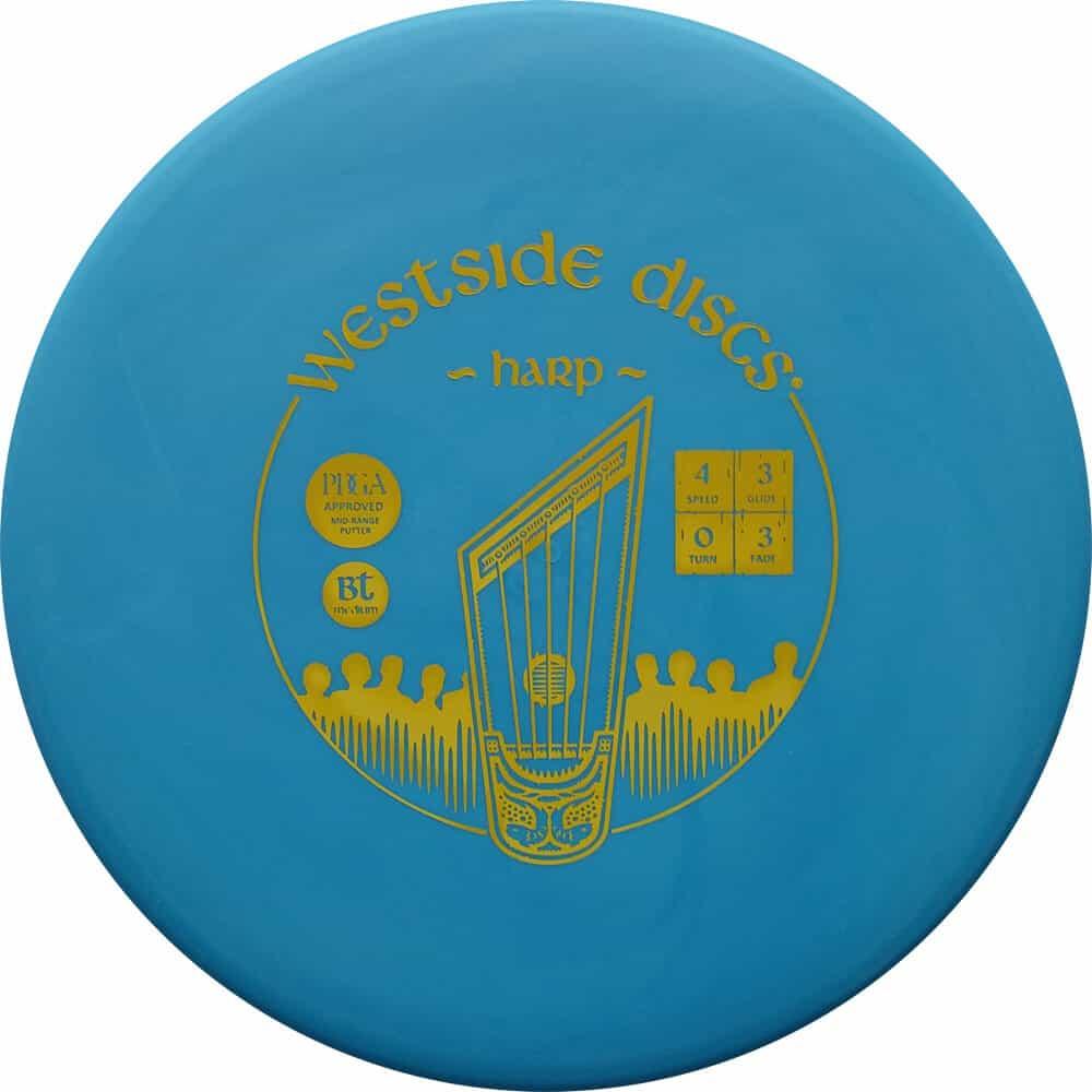 Disku golfa disks westside discs bt medium harp-blue